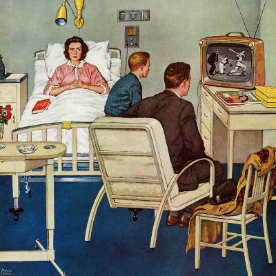 """""""Baseball in the Hospital,"""" April 29, 1961-Amos Sewell-Giclee Print"""