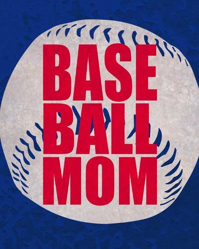 Baseball Mom In Blue-Sports Mania-Art Print