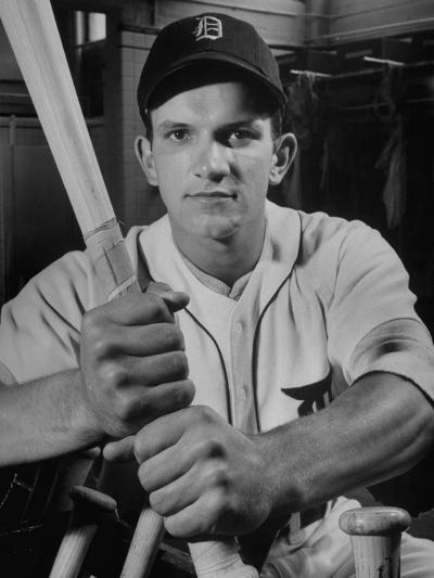 Baseball Player Johnny Groth of the Detroit Tigers Displaying His Powerful Forearms--Photographic Print