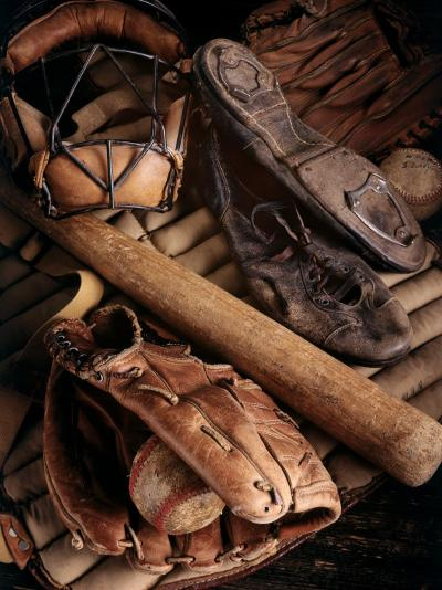 Baseball Still Life--Photographic Print