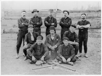 Baseball Team of Railroad Workers in 1889