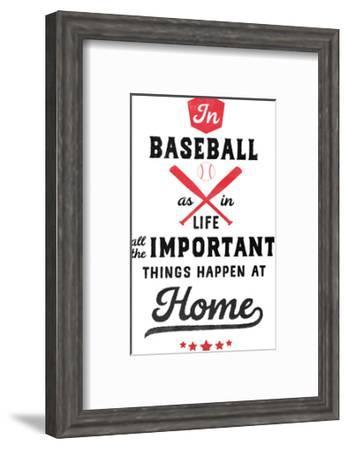 Baseball-Elena David-Framed Art Print
