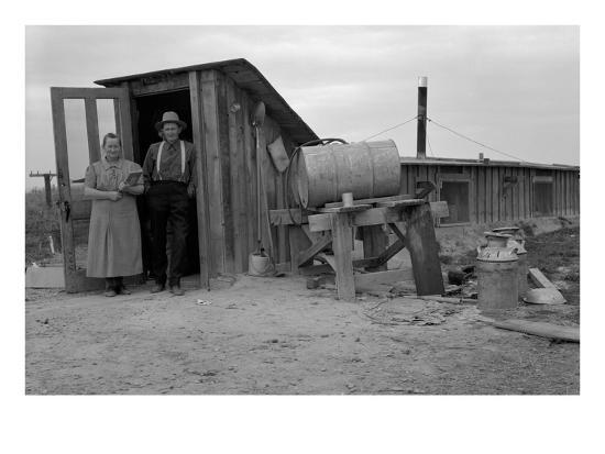 Basement Home-Dorothea Lange-Art Print