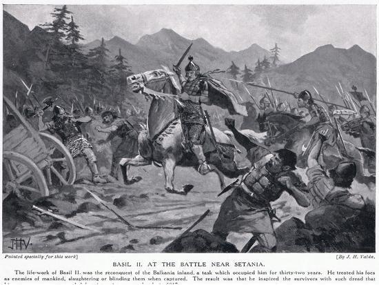 Basil II, at Battle Near Setania 1017 AD-John Harris Valda-Giclee Print
