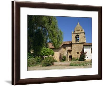 Basilica and Bell Tower at Carmel Mission, Founded 1770, Carmel by the Sea, California, USA-Westwater Nedra-Framed Photographic Print
