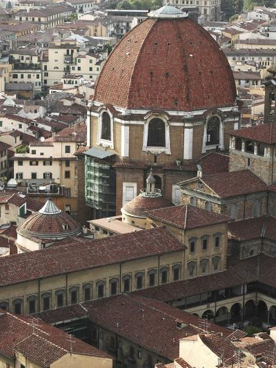 Basilica and Overview of Florence--Photographic Print