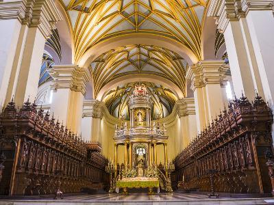 Basilica Cathedral of Lima Interior, Plaza De Armas (Plaza Mayor), Lima, Lima Province, Peru-Matthew Williams-Ellis-Photographic Print