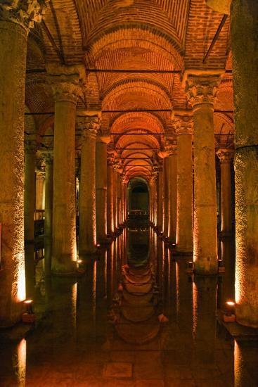 Basilica Cistern, Istanbul, Turkey; Ancient Underground Cistern-Design Pics Inc-Photographic Print