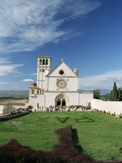 Basilica Di San Francesco, Where the Body of St. Francis was Placed in 1230, Assisi, Umbria-Sergio Pitamitz-Photographic Print