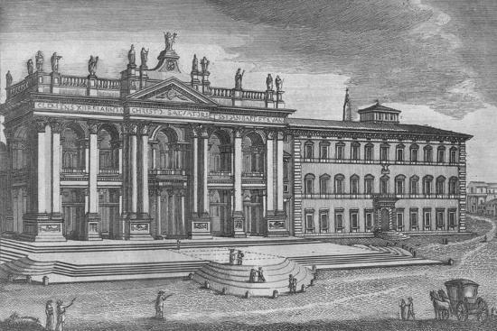 'Basilica di San Giovanni in Laterano. Basilique de St. Jean de Latran', c19th century-Unknown-Giclee Print