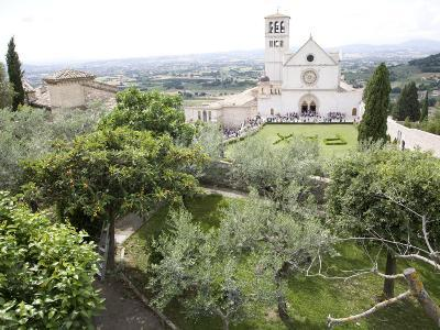 Basilica of San Francesco, and the Valley of Peace, Assisi, Umbria, Italy-Olivieri Oliviero-Photographic Print