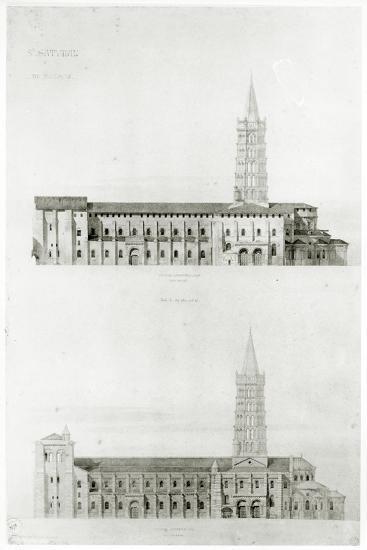 Basilica of St. Sernin, Toulouse-Eugene Emmanuel Viollet-le-Duc-Giclee Print