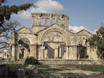 Basilica of St. Simeon, Qalaat Samaan, Syria, Middle East-David Poole-Photographic Print