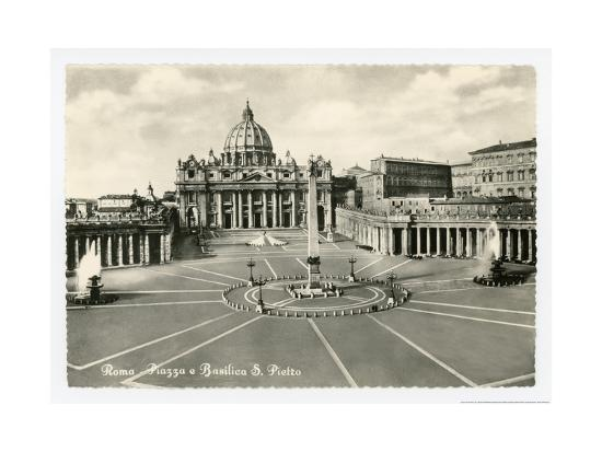 Basilica S Pietro-Alan Paul-Art Print