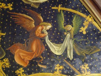 Basilikatafel S.Maria Maggiore. Detail Der Re.Tafel: Zwei Engel. Nadelholz-Hans Holbein the Younger-Giclee Print