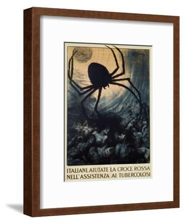 Italiani, Aiutate La Croce Rossa Nell'Assistenza Ai Tubercolosi Poster