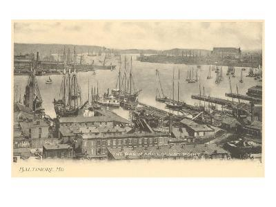 Basin and Locust Point, Baltimore, Maryland--Art Print