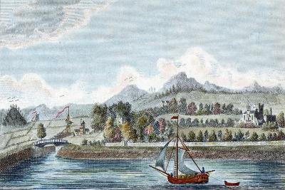 Basin of the Caledonian Ship Canal at Muirtown Near Inverness, Scotland, 1822--Giclee Print
