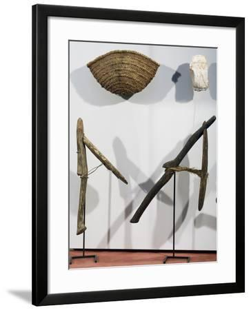 Basket and Wooden Spades, Agricultural Implements, New Kingdom--Framed Giclee Print