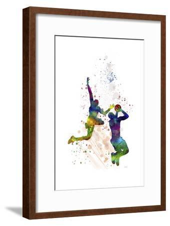 Basket Ball Player 1-Marlene Watson-Framed Giclee Print