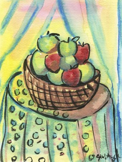 Basket of Apples-Jennifer Frances Azadmanesh-Giclee Print