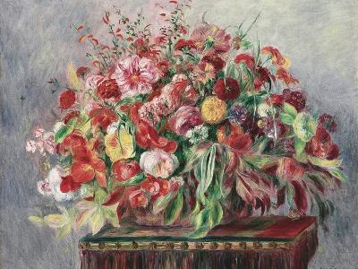Basket of Flowers, 1890-Pierre-Auguste Renoir-Giclee Print