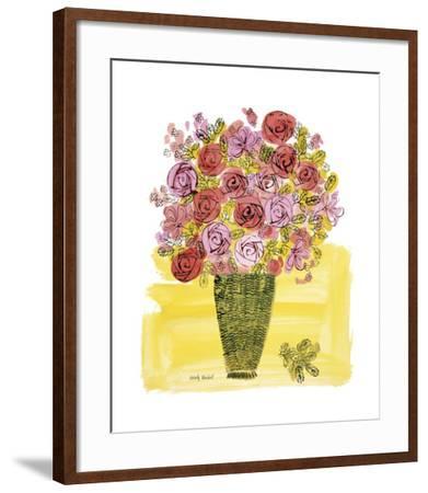 Basket of Flowers, c.1958-Andy Warhol-Framed Giclee Print