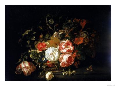 Basket of Flowers, Uffizi Gallery, Florence-Rachel Ruysch-Giclee Print