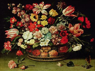 Basket of Flowers-Jacques Linard-Giclee Print
