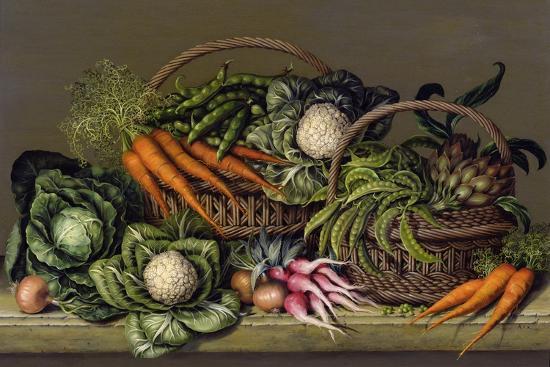 Basket of Vegetables and Radishes, 1995-Amelia Kleiser-Giclee Print