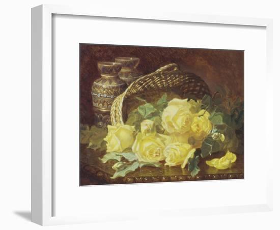 Basket of Yellow Roses-Eloise Harriet Stannard-Framed Giclee Print