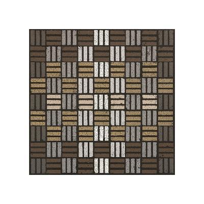 Basket Weave Triple Play (Neutrals)-Susan Clickner-Giclee Print