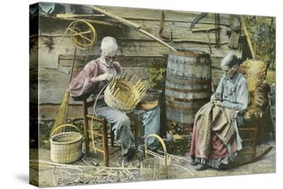 Basket Weaving in Kentucky--Stretched Canvas Print