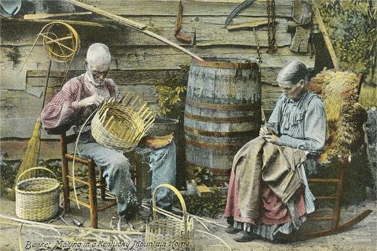 Basket Weaving in Kentucky--Art Print