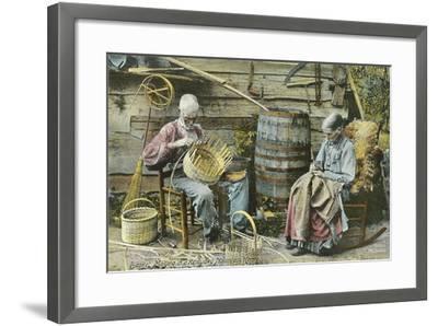 Basket Weaving in Kentucky--Framed Art Print