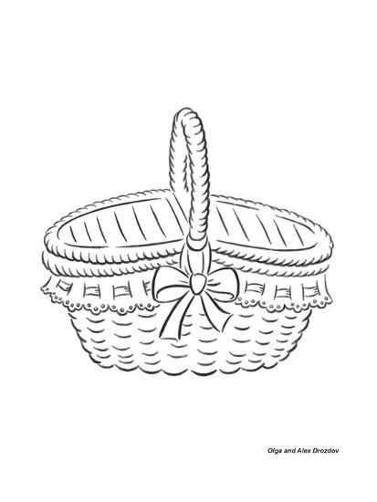 Basket with a Bow-Olga And Alexey Drozdov-Giclee Print