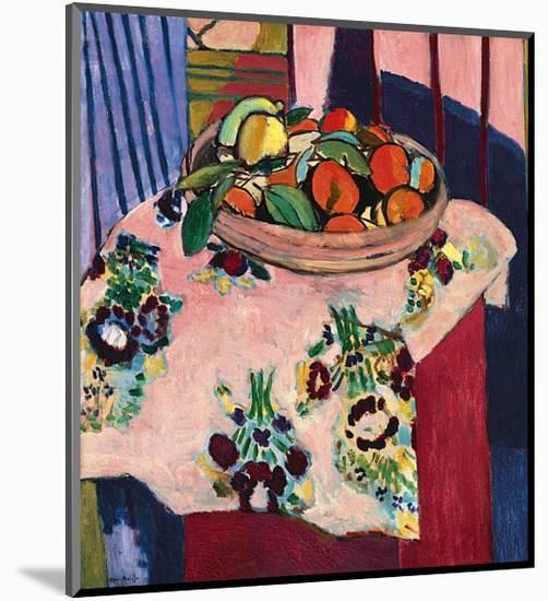 Basket with Oranges-Henri Matisse-Mounted Art Print