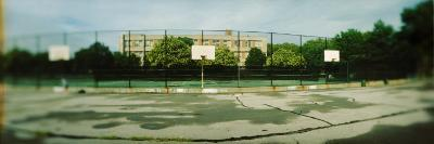 Basketball Court in Public Park, Mccarran Park, Greenpoint, Brooklyn, New York City, New York State--Photographic Print