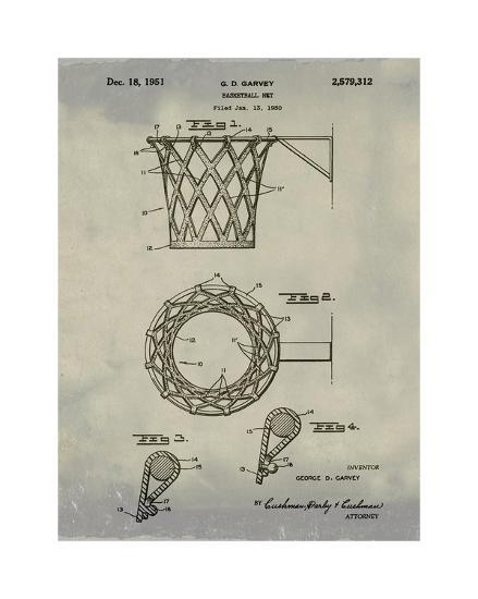 Basketball net, 1950-Antique I-Bill Cannon-Giclee Print