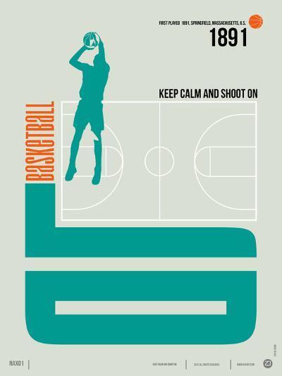 Basketball Poster-NaxArt-Art Print
