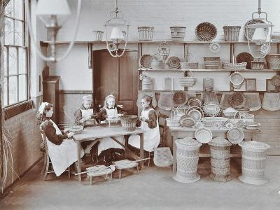 Basketry Workshop at Elm Lodge Residential School for Elder Blind Girls, London, 1908--Photographic Print