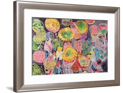 Baskets at Market-Hilary Simon-Framed Giclee Print