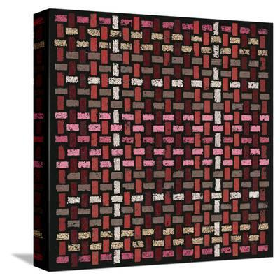 Basketweave Straight (Red)-Susan Clickner-Stretched Canvas Print