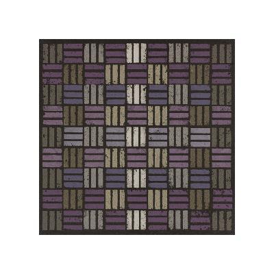 Basketweave Triple Play - Plum-Susan Clickner-Giclee Print