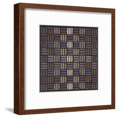 Basketweave Triple Play - Plum-Susan Clickner-Framed Giclee Print