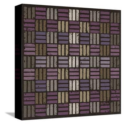 Basketweave Triple Play - Plum-Susan Clickner-Stretched Canvas Print