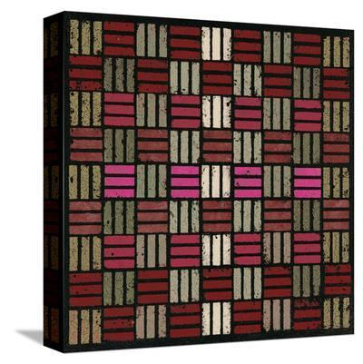 Basketweave Triple Play (Red)-Susan Clickner-Stretched Canvas Print