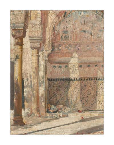 Basking - a corner in the Alhambra-Tom Roberts-Premium Giclee Print