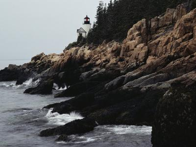 Bass Harbor Head Lighthouse, 32-Foot-High Structure, and Rocky Coast of Mount Desert Island, Maine-Medford Taylor-Photographic Print
