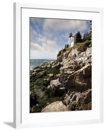 Bass Harbor Head Lighthouse & Foothill-Monte Nagler-Framed Photographic Print